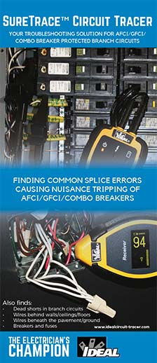 FINDING COMMON SPLICE ERRORS CAUSING NUISANCE TRIPPING OF AFCI/GFCI/COMBO BREAKER